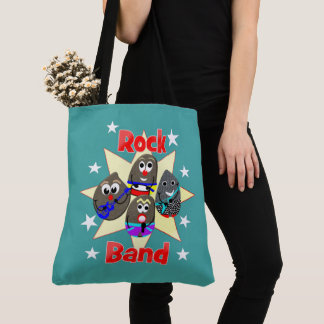 Funny Rock Band Rock Painting Fans Graphic Tote Bag