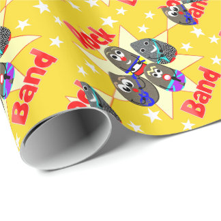 Funny Rock Band Rock Painting Fans Graphic Wrapping Paper