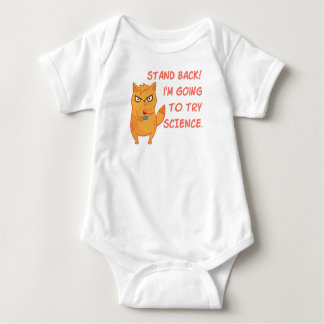 Funny Rocket Science Neon Scientist Kitty Cat Baby Bodysuit