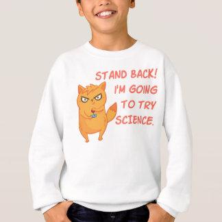 Funny Rocket Science Neon Scientist Kitty Cat Sweatshirt