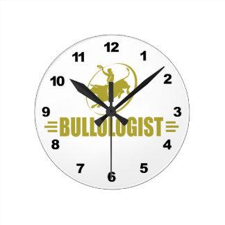 Funny Rodeo Bull Rider Round Clock