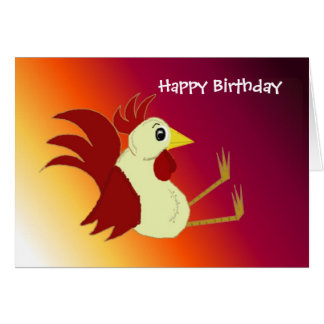 Funny Rooster Birthday Cards