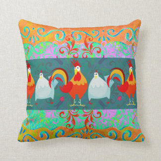 Funny Rooster Hen Funky Chicken Farm Animal Gifts Cushion