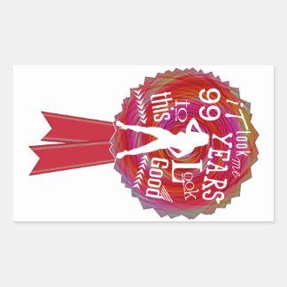 Funny Rosette Happy Birthday Rectangular Sticker