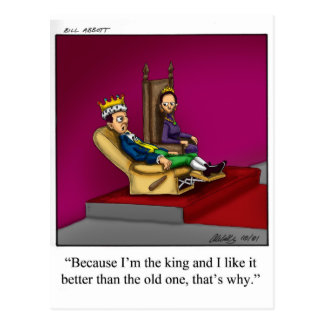 Funny Royal Family Cartoon Gift! Postcard