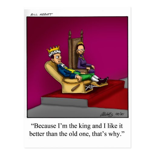 Funny Royal Family Cartoon Gift! Post Cards