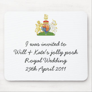 Funny Royal Wedding Apron souvenir mousemat