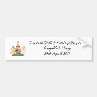 Funny Royal Wedding souvenir car sticker Bumper Sticker
