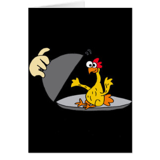 Funny Rubber Chicken Served for Dinner Card