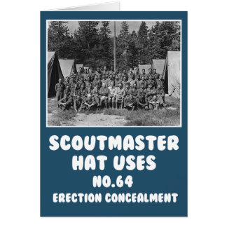 Funny rude scouts greeting card