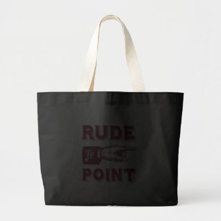 "Funny ""Rude to Point"" Victorian Illustration Jumbo Tote Bag"