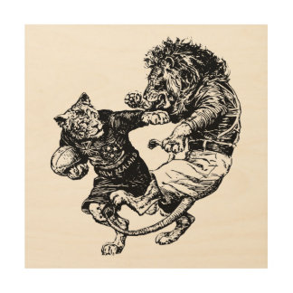 Funny Rugby Art Wood Prints