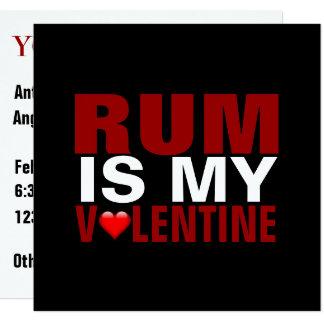 Funny Rum Is My Valentine | Anti Valentine's Day Card