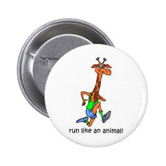 Funny running 6 cm round badge