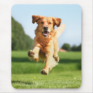 Funny Running Dog Mouse Pad