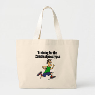 Funny Running Dude Cartoon Large Tote Bag