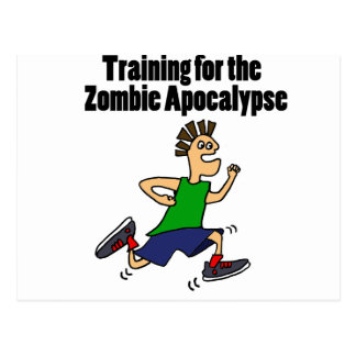 Funny Running Dude Cartoon Postcard