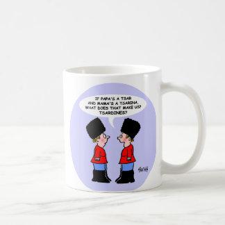 Funny Russian Tsars Kids Cartoon For History Major Coffee Mug