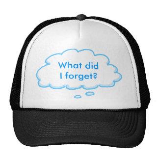 Funny RV Forgetful Camper's Cap