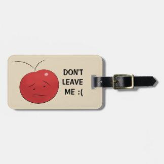 Funny Sad Cherry Fruit Luggage Tag
