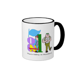 Funny Safety In Numbers T-shirts Gifts Ringer Mug