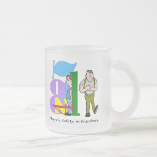 Funny Safety In Numbers T-shirts Gifts Frosted Glass Mug