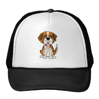 Funny Saint Bernard Puppy Dog Art Cap