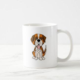 Funny Saint Bernard Puppy Dog Art Coffee Mug