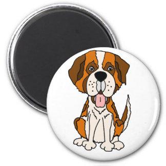 Funny Saint Bernard Puppy Dog Art Magnet