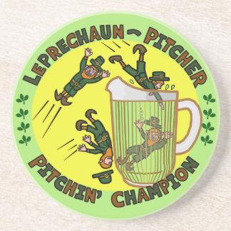 Funny Saint Patrick s Day Leprechaun Pitcher Beverage Coaster