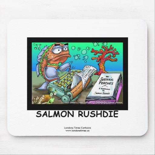 Funny Salman Rushdie Fish Mouse Pad Mouse Pad