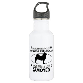 funny SAMOYED designs 532 Ml Water Bottle