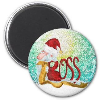 Funny Santa boss Christmas Refrigerator Magnet