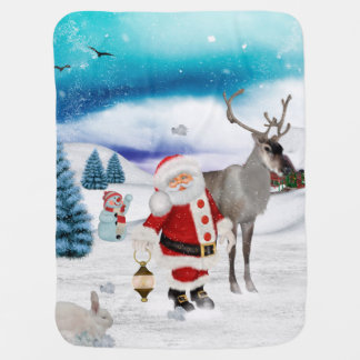 Funny Santa Claus Baby Blanket