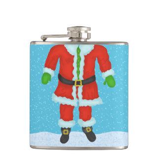 Funny Santa Claus Body Novelty Christmas Holiday Hip Flask
