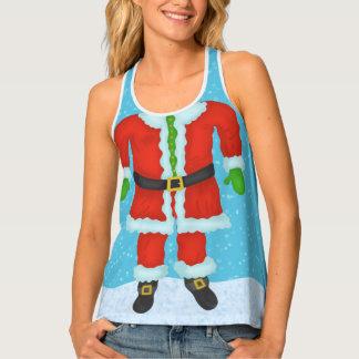 Funny Santa Claus Body Novelty Christmas Holiday Singlet