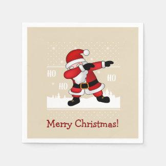 Funny Santa Claus Dabbing Merry Christmas Disposable Napkin
