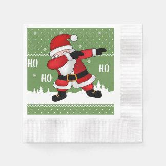Funny Santa Claus Dabbing Merry Christmas Paper Napkins