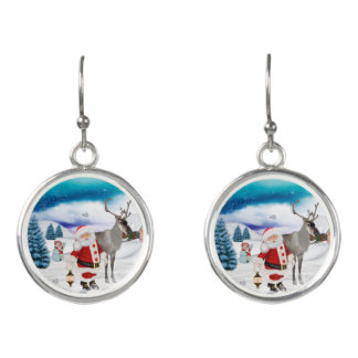 Funny Santa Claus Earrings