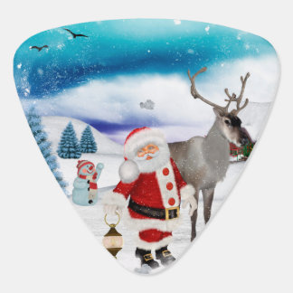Funny Santa Claus Guitar Pick