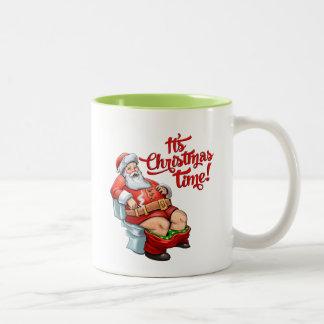 Funny Santa Claus Having a Rough Christmas Mug