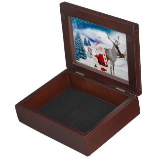 Funny Santa Claus Keepsake Box