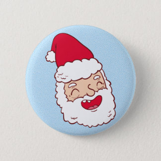 Funny Santa Claus laughing his head off 6 Cm Round Badge