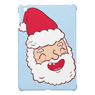 Funny Santa Claus laughing his head off iPad Mini Cases