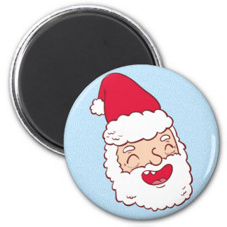 Funny Santa Claus laughing his head off Magnet