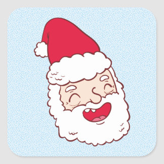 Funny Santa Claus laughing his head off Square Sticker