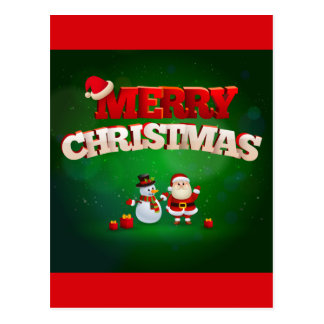 Funny Santa Claus Merry Christmas design Postcard