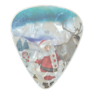 Funny Santa Claus Pearl Celluloid Guitar Pick