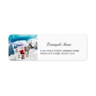 Funny Santa Claus Return Address Label