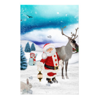 Funny Santa Claus Stationery